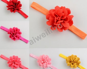 Flower Headband, Baby Girl Headband, Infant headband, Newborn Headband