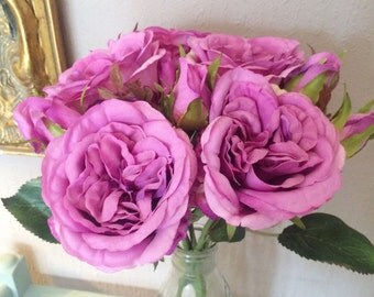 Artificial Purple Cabbage Roses