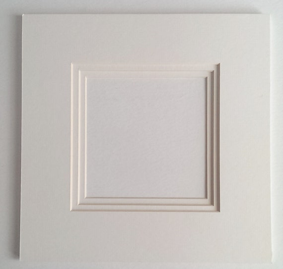 Framing Supplies Precut White Triple Mat 10x10 By