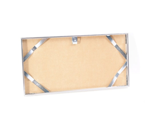 Chrome License Plate Wall Display Frames All Aluminum
