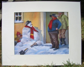 """Print from an Original Oil Painting, Very Limited. matted 16"""" X 20"""".print is 11""""X14"""" I have only Two of them.  1165a"""