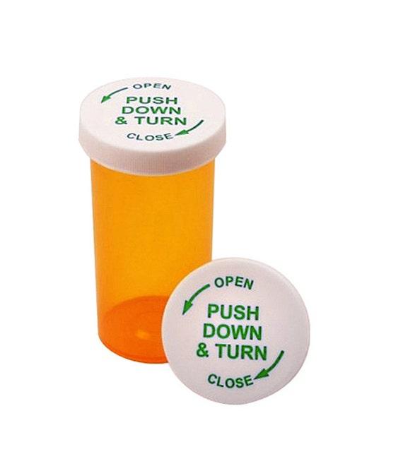 Pill Bottles With Child Resistant Caps 12 Pcs Different