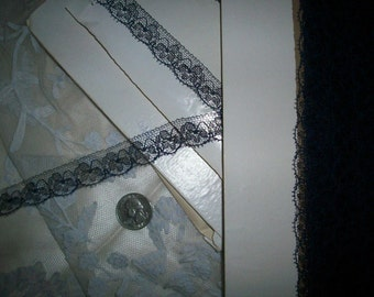 By the Bolt 36 yds. of this midnight blue color pure silk 1920s french lace