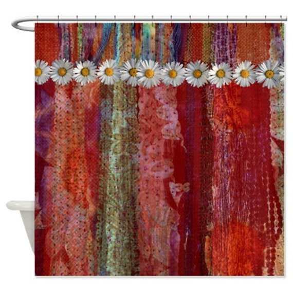 Shower Curtain Gypsy Rags Layered Bohemian By Folkandfunky