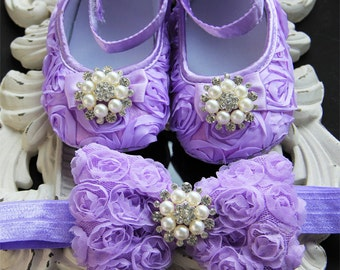 Baby lavender shoes, lavender baby shoes, Baby girl purple Shoes ,purple Baby Shoes, baby girl crib shoes, Ready to ship, baby girls shoes