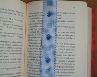embroidered heart bookmark
