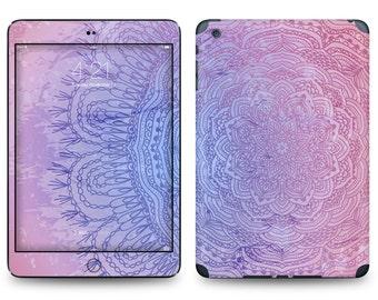 Purple Glow Flower Print - Apple iPad Air 2, iPad Air 1, iPad 2, iPad 3, iPad 4, and iPad Mini Decal Skin Cover