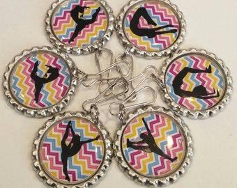 Set of 12 gymnastic Zipper Pulls