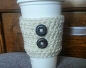 Coffee Mug Cozy -Travel Mug Cozy - Coffee Cozy - MugCozy - Coffee Sleeve Cream
