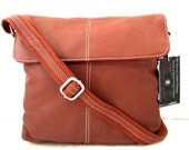 Ladies Handmade Brown Tan Premium Leather Cross Body Bags