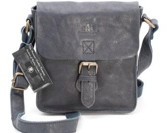 Lady's Handmade Rowallan of Scotland Navy Leather Cross Body Bags