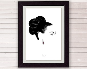 katy perry print - katy perry poster minimalist art print - 8 x 10 - A4, LIMITED EDITION FOR 35