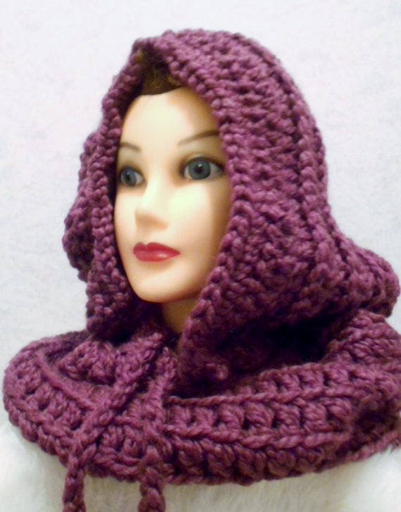 Crocheted Hooded Neck Warmer with by StacysCrochetandmore ...