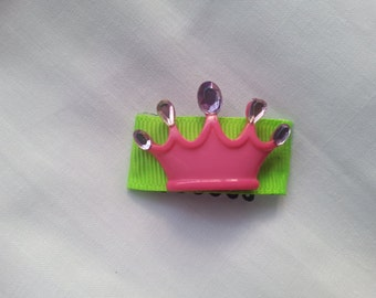 Pin has clip for girl
