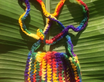Rainbow purse with strap