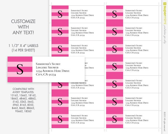 8162 labels template