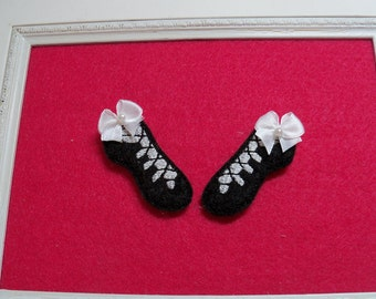 Irish Dance Shoe Feltie ,  Step Dance Shoe Feltie