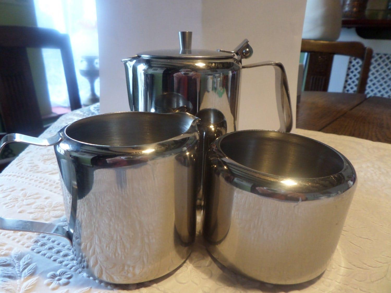 steel tea set stainless steel milk jug steel by. Black Bedroom Furniture Sets. Home Design Ideas