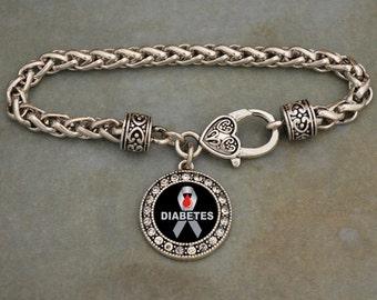 Diabetes Awareness Clasp Bracelet