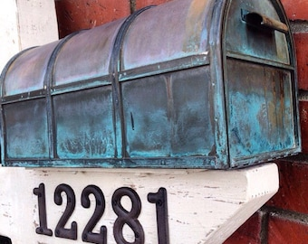 Cottage Mail Post & Copper Mailbox