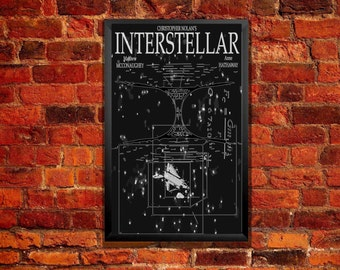 Interstellar Movie Poster - Tesseract & Wormhole Illustration Bitcoin Accepted