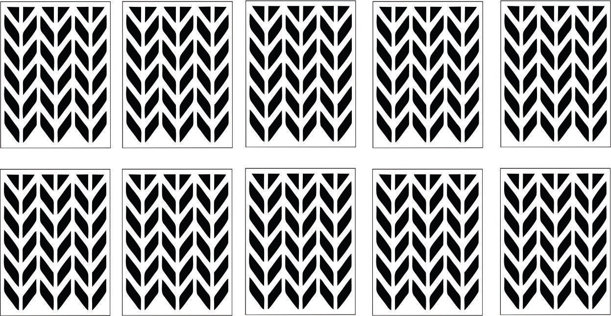 10 arrow pattern nail vinyl decal sticker stencils free. Black Bedroom Furniture Sets. Home Design Ideas