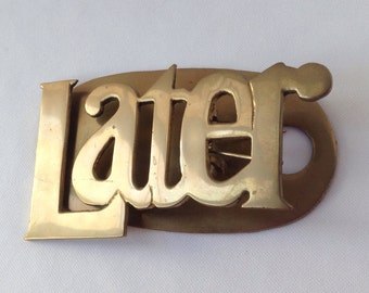 Brass Note Holder for important work