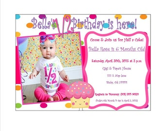 Baby's 1/2 Birthday Invitation