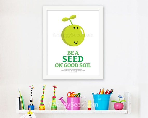 Items similar to Be A Seed On Good Soil Printable Bible ...