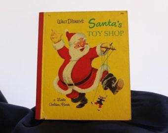 "On sale! Vintage Children's Book   - ""Walt Disney's Santa's Toy Shop"" 1950"