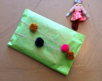 Pom Pom Ribbon for gift wrap and fun decorations