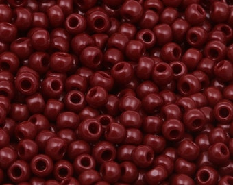 11/0 TOHO seed beads * opaque Oxblood * - TR-11-46 - seed beads, 2.2 mm - 10 g
