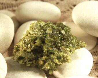 Green Tourmaline Cluster