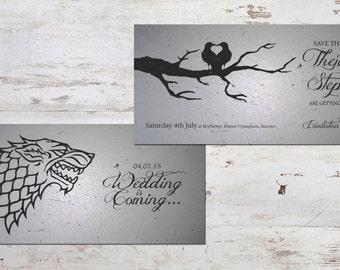 Game of Thrones Inspired | Save The Date & Wedding Invitations [Printable - Digital Only]