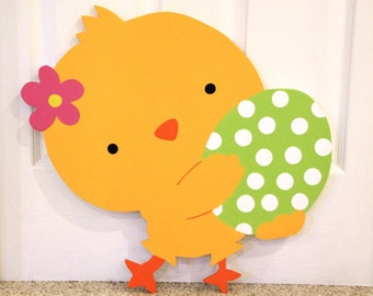 Easter chick Outdoor Wood Lawn Decoration