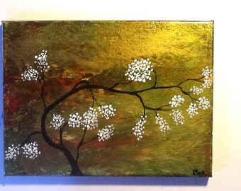 """Original 9"""" x 12"""" acrylic painting on stretched canvas. """"Midas Touch"""""""