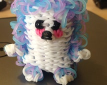 Rainbow Loom Hedgehog- made to order please specify colors.