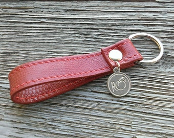 Red key Brussels / Brussels red keychain