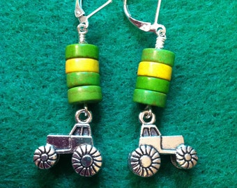 Tractor Earrings