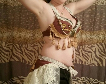 Tribal fusion bra, tribal bellydance bra, tribal belly dance, burning man