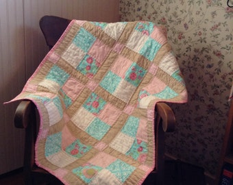 Hand Quilted Baby Blanket