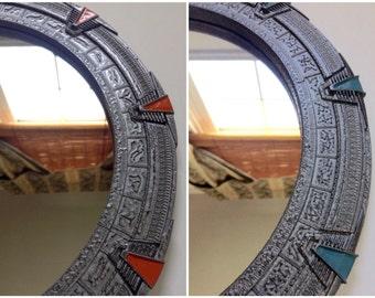 Large Stargate Mirror - SG1 or Atlantis - 12 inches (30 cm)