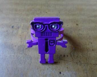 magenta purple mr robot ring rhinestone techie hipster jewelry kawaii cute