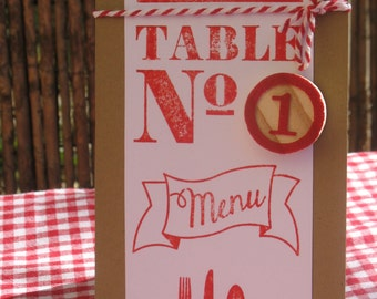 Number of table |esprit guinguette| wedding