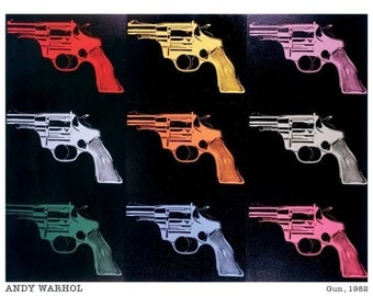 Andy Warhol Guns 24 x 36 poster
