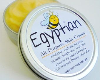 Egyptian Beauty Cream All-Purpose w/ Bee Pollen, Bee Propolis & Royal Jelly 2oz Night Cream, Face Cream