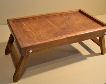 Rustic Wooden Lap top Tray / lap top Table / Breakfast in bed tray
