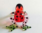 Figurine Animal Miniature Hand Blown Glass the Frog.
