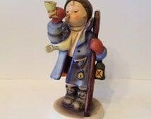 Boy Blowing Horn Hummel, Lighting The Way Hummel, Rare Collectible, Beautiful Collectible, Hummel Figurine, Vintage Hummel Collectible