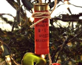 Shot Gun Shell Jingle Bell Ornament! SHELL BELL!